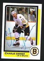Charlie Simmer #145 signed autograph auto 1986-87 Topps Hockey Trading Card