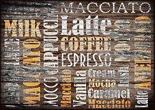 4x Tischsets / Platzmatten / Platzset abwaschbar / Motiv 'it's coffee time'