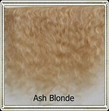 """Mohair Weft ASH BLONDE,  5"""" - 6"""" X 36""""   Ideal for Reborn dolls"""