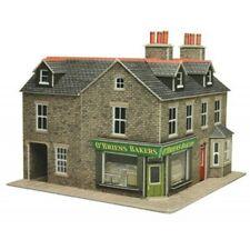 Metcalfe PO264 - Stone Corner Shop - Pre Coloured Die Cut Card Kit - 00 Gauge 1s