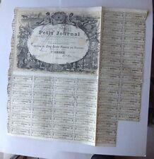 Le Petit Journal  Action De 500 Francs Au Porteur