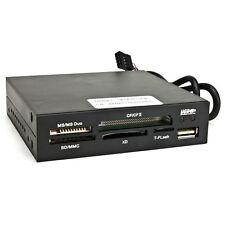 "3.5"" USB 2.0 All-in-One Multifunction Internal Memory Card Reader w/USB 2.0 Por"