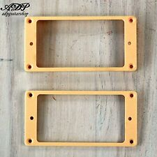 2 CONTOURS HUMBUCKER Gibson LP CREAM Pickup Mounting Rings Curved Les Paul MR-2C