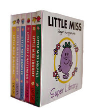 Little Miss Box Set 6  Small Board Books Toddler Kids Chatterbox Trouble etc New