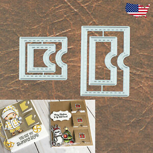 Pop Up / Lift the Flap Reveal or Tag Stitched Cutting Dies 4 Interactive Cards