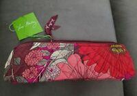 NWT Vera Bradley Brush & Pencil Makeup Case in Bohemian Blooms #180528-311