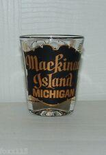 Vintage Mackinac Island Michigan Surrey Shot Glass - Gold Leaf