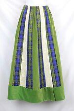 Vtg Chessa Davis Maxi Skirt Velvet Lace Quilted Folk Art Boho Hippie Gypsy Artsy
