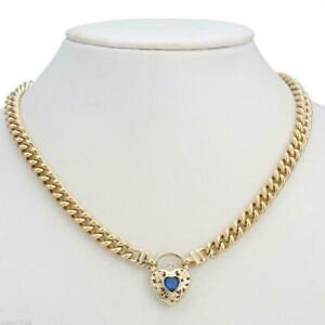 Collana da donna in oro giallo 18 carati GL massiccio con cordolo europeo e...
