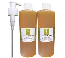 Jojoba Oil 100 Pure Uncut Virgin Grade 500ml X 2 1 Pump Value Pack