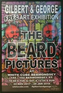 Gilbert & George Rare SIGNED Big Beard Poster 2017 (Edition of 100) 1015x1520mm