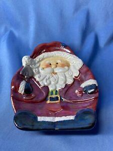 Vintage Dolgen Corp Inc Recommend For Handwash Red Santa Soap Dish