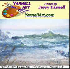 Jerry Yarnell School of Fine Art dvd Emerald Tide acrylic painting art lesson