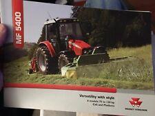 Massey Ferguson MF 5400 tractor brochure 5425 5435 5445 5455 5460 5465
