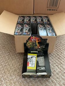 2000AD Judge Dredd 10 Boxes in case open trading cards Base only no chase sketch