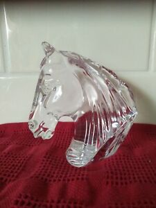 Waterford Crystal Horse Head as new