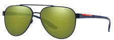 Prada Sport Herren Damen Sonnenbrille PS54TS 7AN-213 58mm pilot verspiegelt H