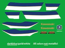 Dekorsatz Decals Kawasaki ZRX 1100/1200 R -ELR- Folienplott 3-farbig