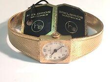 Vintage Helbros  17 Jewels Ladies Watch Swiss Movement  Gold Tone  (G2231)