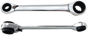 BGS 30007 Kraftmann Ratschen-Ringschlüssel 4-in-1 SW 10 x 13 - 17 x 19 mm