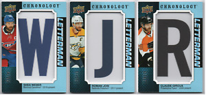 2019-20 Upper Deck Chronology Letterman Patches /35 Pick Any Complete Your Set