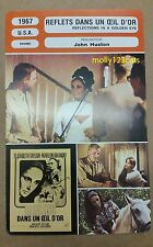US Film Reflections In A Golden Eye Elizabeth Taylor Brando French Trade Card