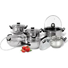 Diamond Home 12 Piece Stainless Steel Cookware Set CS20100