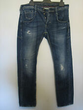 BB26 ) MENS POLICE 883 DISTRESSED LOOK SLIM FIT JEANS BUTTON FLY  W 32  LEG 30