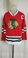 Jonathan Toews #19 Chicago Blackhawks Reebok NHL Hockey Jersey Women Size Medium