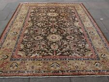 Traditional Hand Made Afghan Zigler Oriental Wool Brown Square Carpet 260x242cm