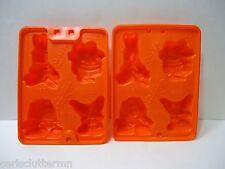 Set of 2 Jell-O Brand Molds Nickelodeon Characters Ren Stimpy Ickis Krumm Orange
