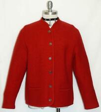 """BOILED WOOL Sweater JACKET Winter Women German Austria RED Winter B41"""" 10 M"""