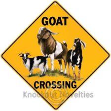 Goat Crossing Funny Novelty Sign Decor Decoration