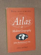 Bartholomew's Advanced Atlas Of Modern Geography. HB/DJ 5th Edition 1960.