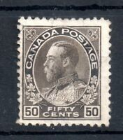 Canada KGV 1911-22 5c mint no gum #211 Faults Hence Price WS12641