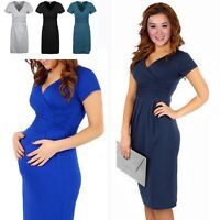 Women's Summer Pregnant Maternity Short Sleeve Loose Cotton Casual Dresses M-XL