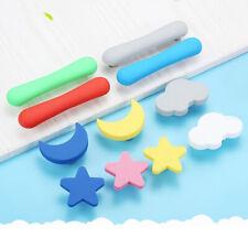 Rubber Cabinet Knob Door Handle Heart Star Moon Cloud Furniture Drawer Pull Kids
