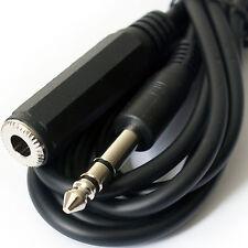 """2m 6.35mm conector estéreo de 1/4 """"a Jack Socket Extension Cable-Plomo de auriculares de guitarra"""