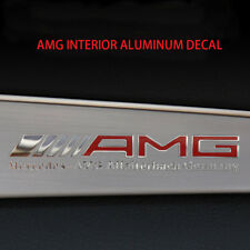 AMG Interior Emblem Aluminum Decal Sticker Badge Decoration For Mercedes Benz