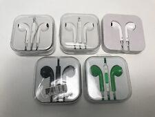 NIB Unused Lot Of 5 Earbuds Earphone Headset With Mic Apple iPhone iPod 3.5mm