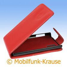 Flip Case Etui Handytasche Tasche Hülle f. LG E610 Optimus L5 (Rot)