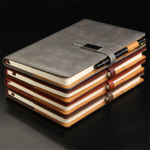 A5 PU Leather Vintage Journal Notebook Lined Paper Diary Planner with Buckle