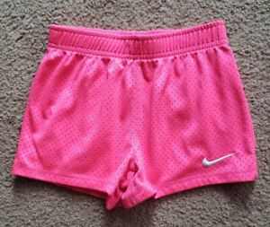 YOUNG GIRLS NIKE MESH PINK SHORTS SZ 6X ** EXCELLENT **