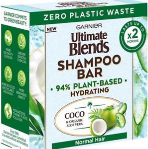 Garnier Ultimate Blends Coconut Hydrating Shampoo Bar Aloe Vera Normal Hair 60g