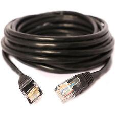 Lungo 5m Cavo Ethernet CAT5e RJ45 Rete/LAN/ADSL a Internet NERO PIOMBO 5 Metro