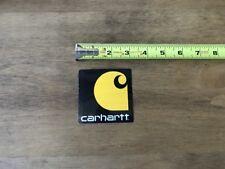 "Carhartt Black Orange Logo Sticker/Decal Outdoor Clothing Approx 3"""