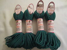 Lot of 4 rolls of 2mm Forest Amy Braided Nylon Macrame Craft Jewelry Cord 100yds