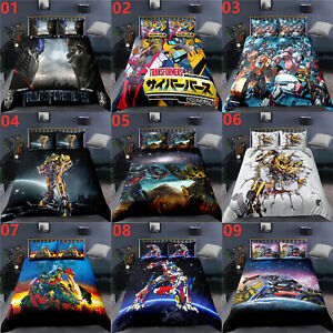 Transformers Single Double King Super King Size Bed Duvet Quilt Cover Set