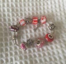 Rhona Sutton Sterling Silver Red Heart Charm Bracelet RRP:£119