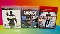 COD Call of Duty World War, Ghosts, Warfare 3 - PS3 Sony Playstation 3 GAME Lot